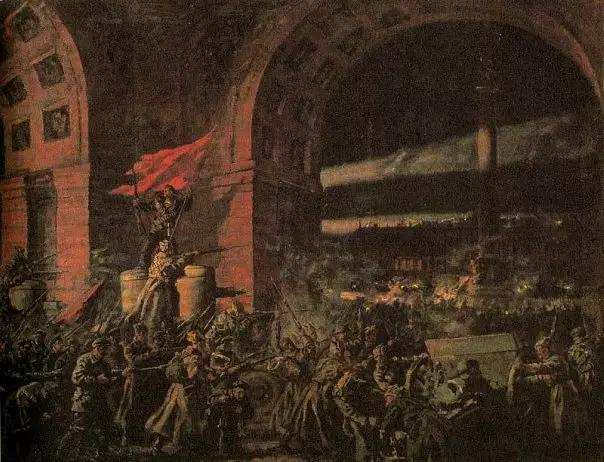图集 | 十月革命油画-激流网