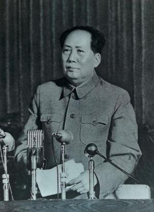 在中南海听毛主席作报告-激流网